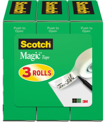 """Scotch 1/2"""" x 1,296"""" Magic Tape Refill 3-Pack $2"""