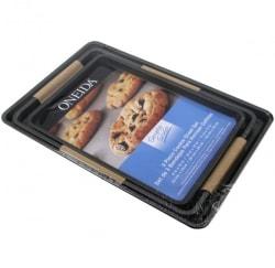 Oneida 3-Piece Cookie Baking Sheet Set for $10 + free shipping