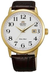 Orient Men's Symphony Leather Watch for $90