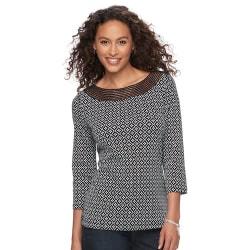 Croft & Barrow Women's Crochet Top for $13