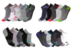 Men's Moisture Wicking Low-Cut Socks 20-Pack $15