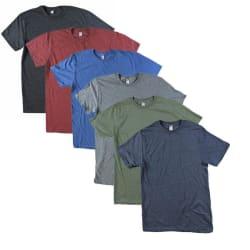 Men's Heathered T-Shirt 6-Pack (Large Sizes) $19