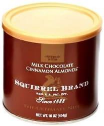 32-oz. Squirrel Brand Milk Chocolate Almonds $8