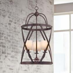 """Alder 15.5"""" 3-Light Bronze Pendant Light for $150"""