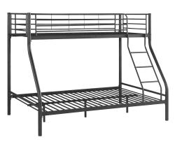 iKayaa Twin-Over-Full Metal Bunk Bed Frame $120
