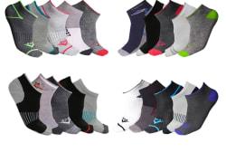 Men's Moisture Wicking Low-Cut Socks 20-Pack $14