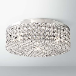 "Velie 12"" Wide Round Crystal Ceiling Light $150"