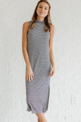 Bella Ella Women's Striped Dress for $10