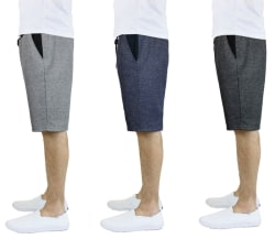 French Terry Men's Contrast Shorts 3-Pack for $29