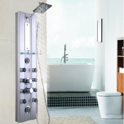 "Goplus 46"" Bathroom Aluminum Shower Panel $80"
