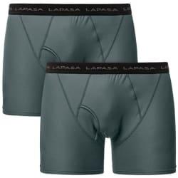 Lapasa Men's Travel Boxer Briefs 2-Pack for $18