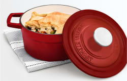 Martha Stewart Collection 2-Qt. Enameled Cast Iron Dutch Oven for $30 + free shipping