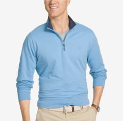 Izod Men's Hampton Quarter-Zip Pullover for $8