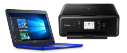 "Dell Intel 12"" Laptop w/ Printer, Office 365 $238"