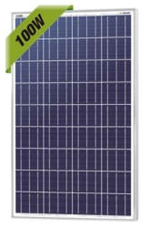 NewPowa 100W 12V Off-Grid Solar Panel for $96