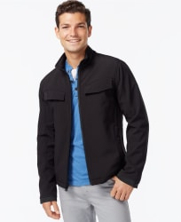 INC Men's Soft Shell Zip-Front Jacket for $20