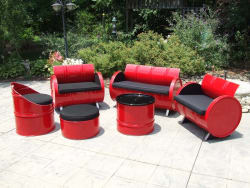 Steel Drum Patio Furniture 6-Piece Set for $2,663