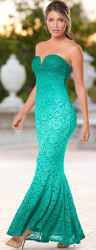 Venus Women's Ombre Lace Long Dress for $50