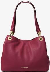 Michael Kors Raven Leather Shoulder Bag for $156
