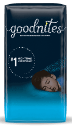 Goodnites Nighttime Kids' Underwear Sample for free + free shipping