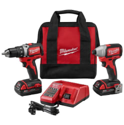 Milwaukee M18 18V Cordless Drill / Impact Kit $179