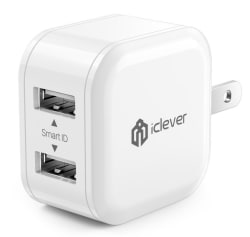 iClever12W Dual USB Travel Wall Charger for $7