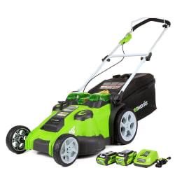 """GreenWorks 20"""" G-Max Electric Mower for $259"""