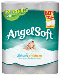 Angel Soft Toilet Paper Double Roll 12-Pack for $4