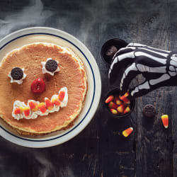 Scary Face Pancake at IHOP for free