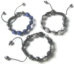 3 Austrian Crystal Disco Ball Bracelets for $17