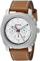 Fossil Men's Stainless Steel Leather Watch for $65