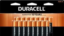 16 Duracell Batteries, $16 Office Depot GC $16
