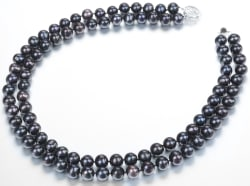 2-Strand AAA Black Freshwater Pearl Necklace $55