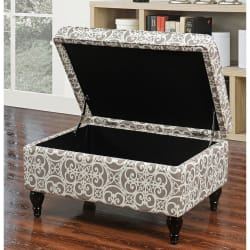 Isabella Storage Ottoman for $55