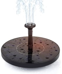 Annt Floating Solar-Powered Water Fountain for $10