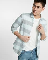 Express Men's Soft Wash Linen-Blend Shirt for $35