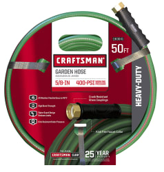 "Craftsman Heavy Duty 5/8"" 50-Foot Garden Hose $15"