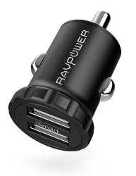 RAVPower 24W 2-Port USB Car Charger w/ iSmart $7