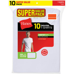 Hanes Men's Tagless T-Shirt 10-Pack for $20