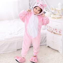 Kigurumi Kids' Pink Pig Onesie for $8