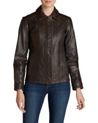 Eddie Bauer Women's Leather Stine Jacket for $95