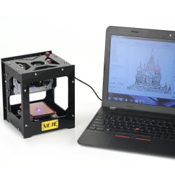 Neje 1,500mW Mini USB Laser Engraver for $84