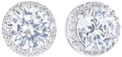 18K White Gold-Plated Cubic Zirconia Earrings $17