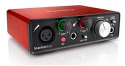 Focusrite Scarlett 2i2o Interface for $70