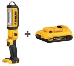 DeWalt 20V LED Work Light & Battery Combo for $69