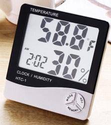 Digital Alarm Clock w/ Calendar, Hygrometer $4