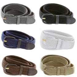 Men's Braided Woven Elastic Stretch Belt $7