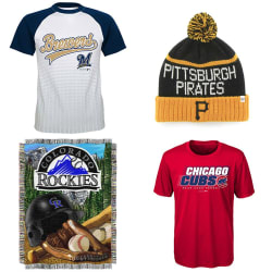 MLB Apparel & Collectibles at Amazon from $2
