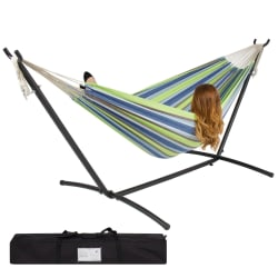 Double Hammock w/ Steel Stand, Carrying Case $45