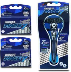 Dorco Men's Pace 7 Razor w/ 10 Cartridges for $14